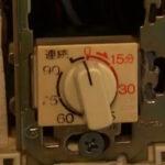 故障した換気扇タイマースイッチ